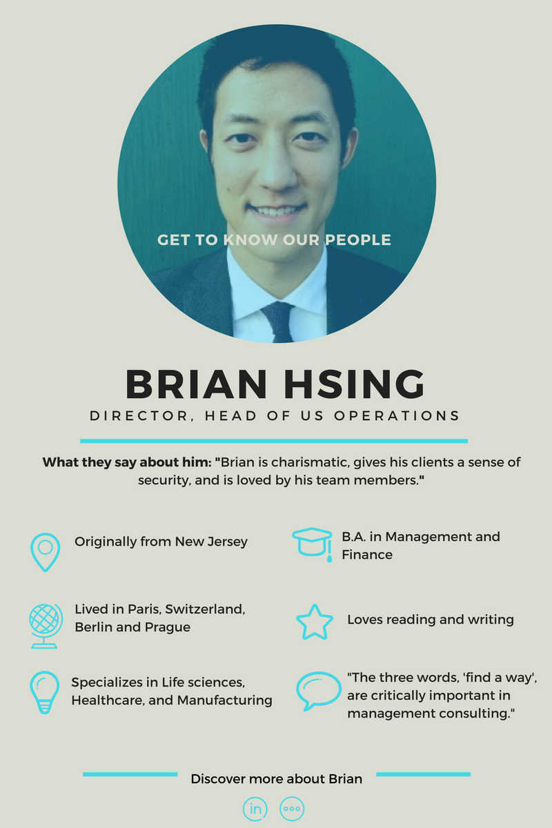 Get to know our consultant - Brian Hsing