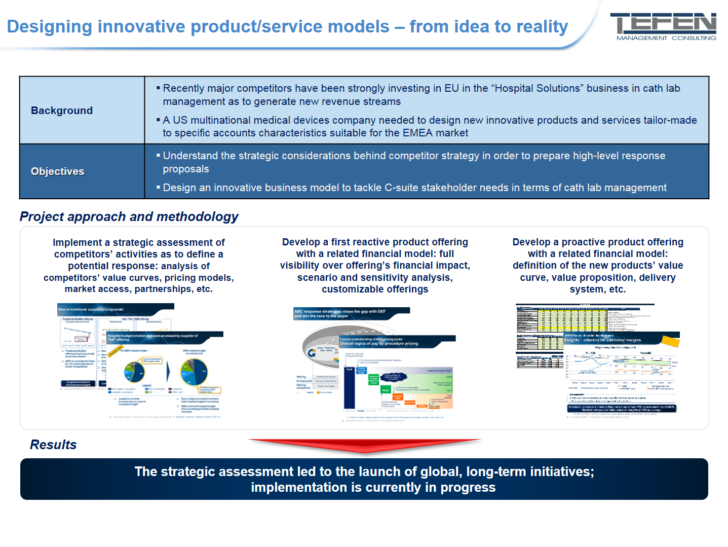 Designing innovative product/service models - Case study's summary